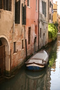 Venice canal & boat