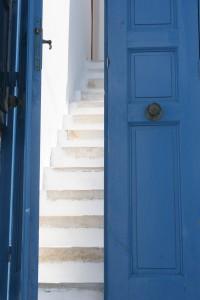 Blue Door & steps