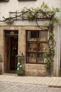 Storefront with vines