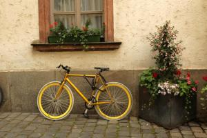 Bike with Yellow tires