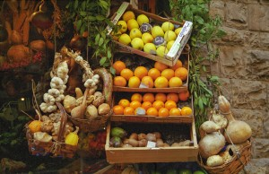 Vegetable stand in Florence