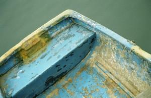 Blue corner boat