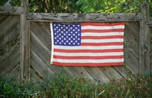 Flag on the Fence