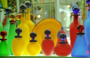 Venetian Glass                           Lg & Sm